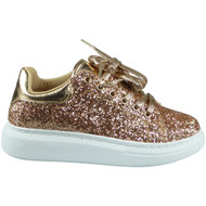 Renata Champagne Plimsole Lace Up Gym Trainers