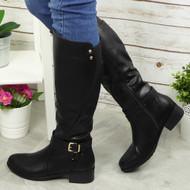 Luz Black Mid Calf Boots