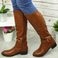 Luz Brown Mid Calf Boots