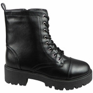 Ayla Black Ankle Lace Up Goth Comfy Boots