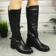 LAURYN Black Knee High Boots