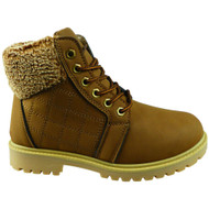 SASKIA Brown New Ankle Lace Up Snow Comfy Boots