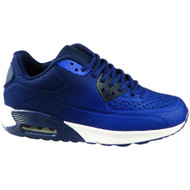 AILEEN Navy New Lace Up Sports Trainers