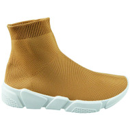 TRACI Camel New Slip On Sock Shoes