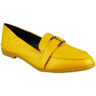 Rebecca Yellow Slip On Flats Work School Shoes
