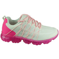 HAZEL White Rose Lace Up Comfy Trainers