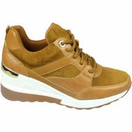 KALIYAH Camel New Lace Up Comfy Classic Wedges Shoes