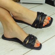 PENNEY Black Flat Summer Flip Flop Slippers