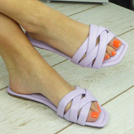 PENNEY Purple Flat Summer Flip Flop Slippers