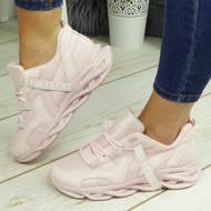 ZAEDYN Pink Jogging Gym Comfy Trainers