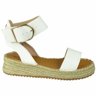 RADLEY White Wedge Ankle Espadrilles Strappy Sandals