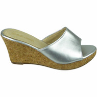 ELIENA Silver High Heel Wedges Party Sandals