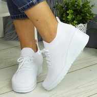 HIROSHI White Slip On Comfy Casual Trainers