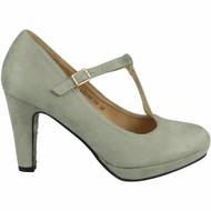 SOMA Court Platform T Bar Buckle Shoes