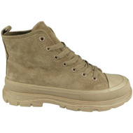 KANEA Khaki Trainers Sneakers Lace Up Boots