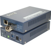 Media Converter,GbE SFP/LC MM To 10/100/1000Base-T/GbE