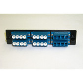 Fiber Adaptor Panel 24 count LC MM/SM, 6 set Quad LC conn.