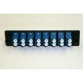 Fiber Adaptor Panel 16 count LC MM/SM, 8 set Duplex LC conn.