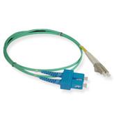 Fiber 10G aqua 50/125 LC/SC Duplex 2 Meter, ICC