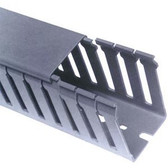 """Wire Duct Base+Cover Black 2""""Wx2""""D 6.5'(sell by each set)"""