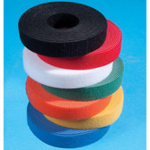 "Velcro, 1"" Wide, 75' (25 Yard) Lineal Puck, White"