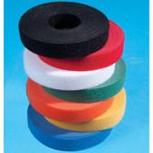 """Velcro, 1"""" Wide, 75' (25 Yard = 22.9 Meter) Lineal Puck,Blue"""