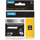 "Label RhinoPRO 1/4"" Metallized Permanent Polyester"