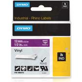 "Label RhinoPRO 1/2"" Purple Vinyl White Print"