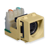 SVHS Connector with IDC Termination, for wallplate, Ivory
