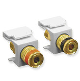 Speaker Jacks, Gold Binding Post, For White Face Plate