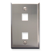 Face Plate 2 Port Stainless Steel