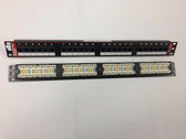 Patch Panel CAT6  24 Port 110 Type to RJ45 568A/B Univ. RM.