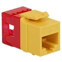 Jack HD (HI-DENSITY), RJ45 CAT6 Yellow (COMPONENT RATED) ICC