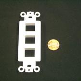 Decora insert 3 keystone port white