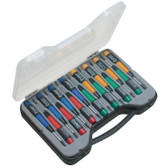 15 Piece Precision Screw Driver Set, Color Coded Handles