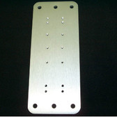 "LCD Arm Mounting Plate, Aluminum 8-3/8""x3-1/2"""
