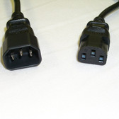 Power Cord 1' IEC 60320-C14 to IEC 60320-C13 18 AWG