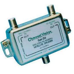 Diplexer SAT/RF Combiner or Splitter With One Cable Line