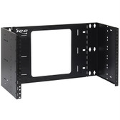 "Hinged Wall Bracket 19""Wx7.0""Hx6""D 6U Black"