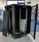 "Floor Cabinet 18U A2 Cabinet, Black, 24""Wx24""Dx40""H (600*600*18U)/Fan Tray"
