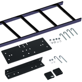 5' RUNWAY RACK-TO-WALL KIT  1X 5' straight section ladder rack runway,   1X relay rack bracket,