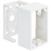 "Surface Mount Box White Single Gang 1.89"" Deep 2 Piece"