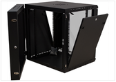"12U Wall Mount Swing Out Cabinet 25""H X 24""W X 24""D (FIXED DEPTH)  110 LBS RATED Cooling fan and power supply built in"