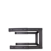 "9U OPEN WALL MOUNT. ADJUSTABLE DEPTH FROM 18""-30"". WITH M6 SCREWS & CAGE NUTS"