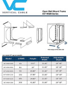 "6U Wall Mount Open Frame Rack – Front Swing Out 15.5""H x 21.65""W x 18""-30""D 66 LBS RATED"