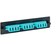 Fiber Adaptor Panel, LGX Adapter Panel, 3 Quad LC, 12F, Aqua, MM