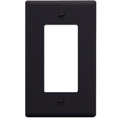 Decorex Faceplate with One Insert Space in Single Gang