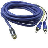 S-VIDEO to Two RCA Adaptor Cable,Mini4 Male/2 RCA Male, 10'