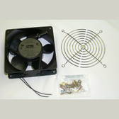 "FAN for Cabinet 4.69""x1.52""D Square 85 CFM Black, Leadwire"