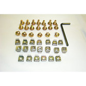 Cage nuts and Screws M6 Type 50 set/Bag